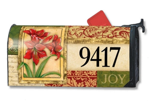 Amaryllis Tapestry Standard Size Mailbox Cover, #3924