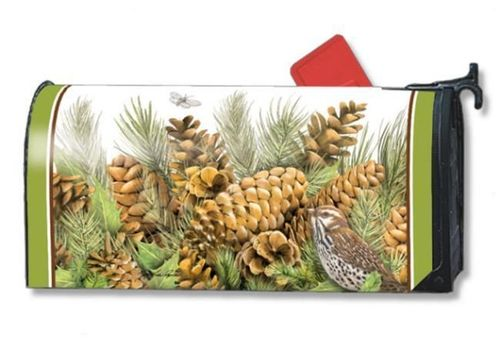 Pinecones Standard Size Mailbox Cover, #9221