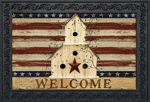 Americana Welcome Doormat, #D00118