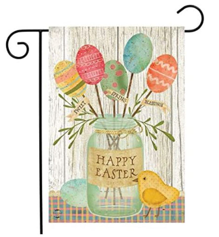 Spring Egg Bouquet Easter Garden Flag 12.5