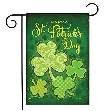 Lucky Shamrocks Garden Flag 12.5