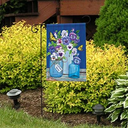 "Butterflies and Pansies Garden Flag 12.5"" x 18"""