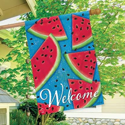 "Watermelon Welcome Summer House Flag 28"" x 40"""