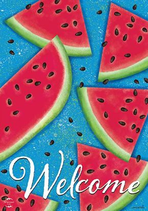 Watermelon Welcome Summer House Flag 28