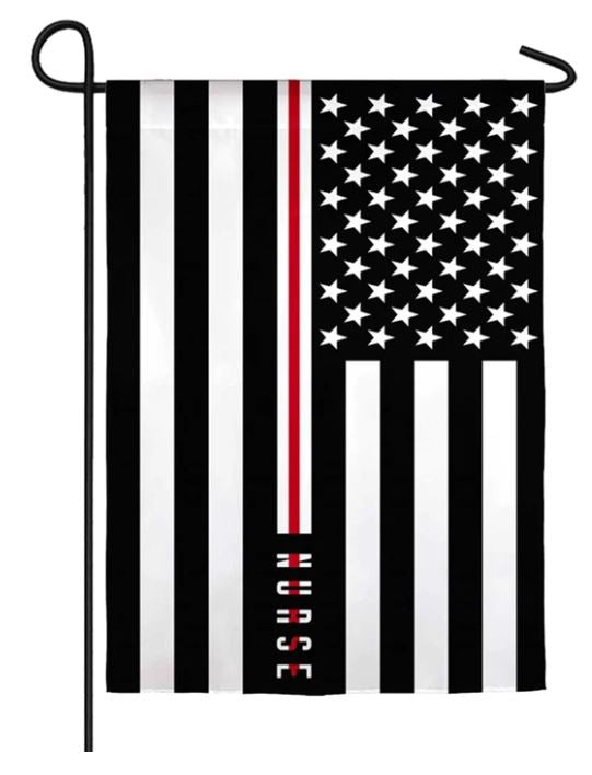 Thin Red Line Nurse Garden Flag 14s9793