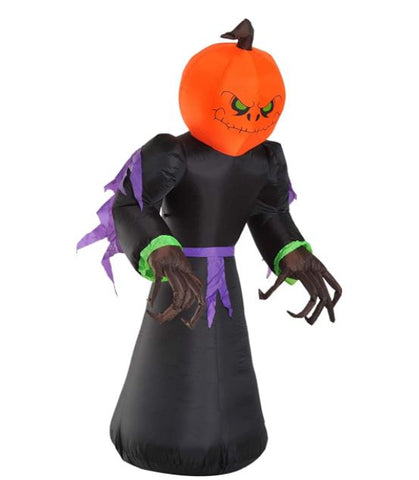 7ft Tall Pumpkin Reaper Inflatable Halloween Airblown Decor