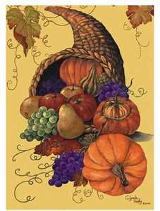 Cornucopia Thanksgiving Garden Flag,  #FS21