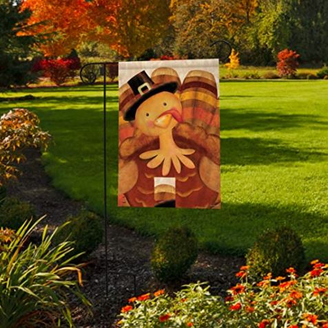 Thanksgiving Turkey Garden Flag Briarwood G01304