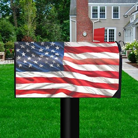 American Flag Standard Size Mailbox Cover, #M00590