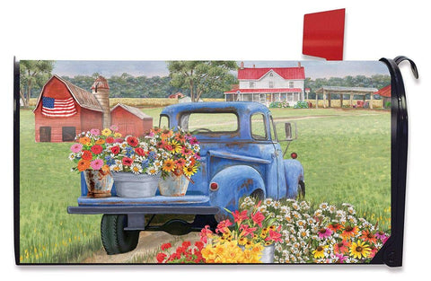 Day On The Farm Standard Size Mailbox Cover, #M00781
