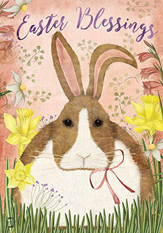 Easter Blessings Bunny Garden Flag, #G01184