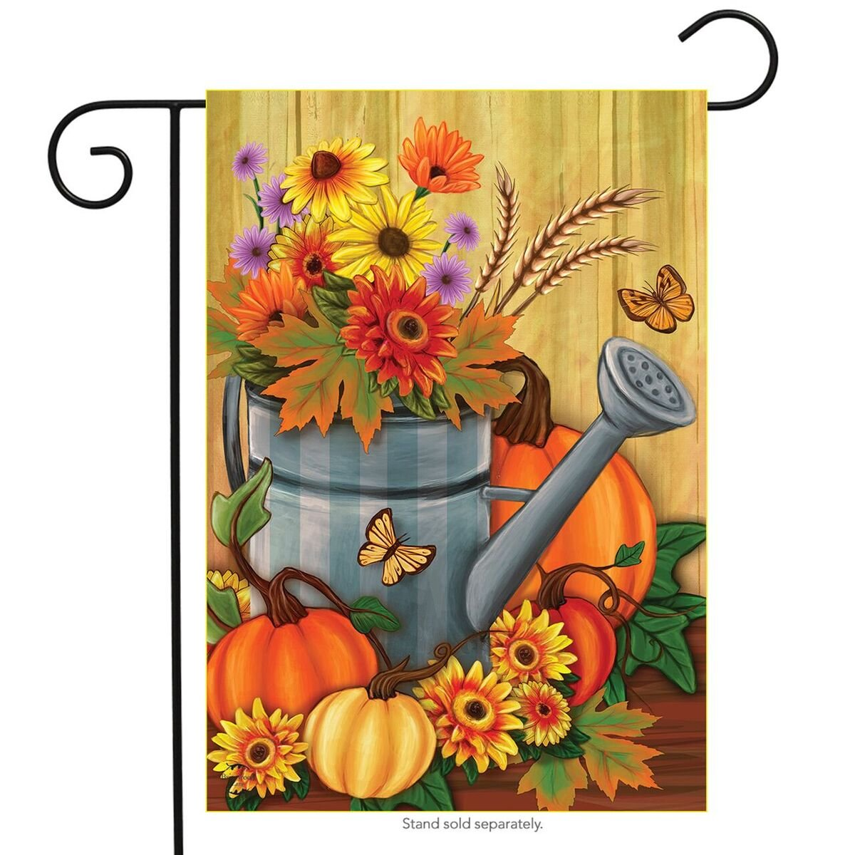 Fall Watering Can Garden Flag, #G00681