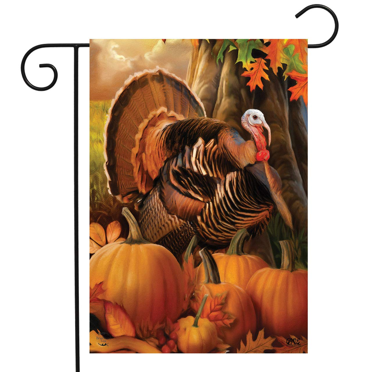 Harvest Turkey Garden Flag G00895 Country Yard Outlet
