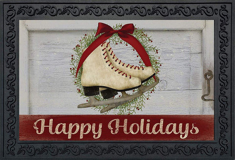 Holiday Skates Doormat, #D00221