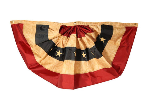 Premium Tea-Stained Bunting Flag, 4'x2', #B00002