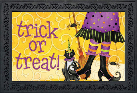 Trick or Treat Witch Doormat, #D00480