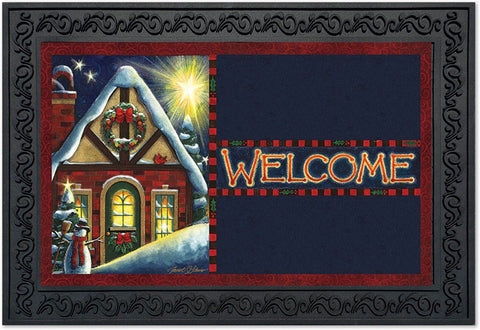 Warm Winter Welcome Doormat, #D00086