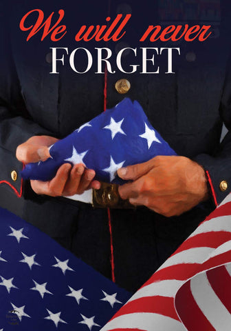 We Will Never Forget Garden Flag, #G01246