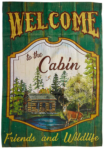 Welcome to the Cabin House Flag, #48883
