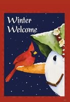 Winter Welcome Garden Flag, #9934FM