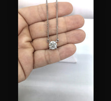 Load image into Gallery viewer, Big 3.1 Carat White Round Cut Diamond Pendant Necklace 18K