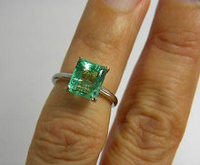 Load image into Gallery viewer, Estate 2.20cts Natural Colombian Emerald Solitaire Engagement Ring Platinum & 18K Gold