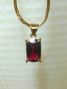 Burmese Red Spinel 1.15 Carat Solitaire Drop Pendant Necklace 18K Yellow Gold