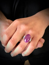 Load image into Gallery viewer, 17.71 Carat Certified Untreated Estate Ruby Diamond Platinum Ring