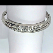 Load image into Gallery viewer, Diamond Baguette Hinged Cuff Bracelet 18K White Gold 36.3g