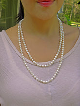 "Load image into Gallery viewer, Authentic Japanese Akoya 6.5~7.0mm Pearl Necklace 48"" *Opera Length* 14K"