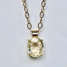 Load image into Gallery viewer, 2.00 Carat Yellow Sapphire 18K Gold Solitaire Pendant Necklace