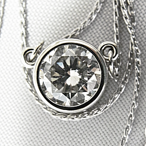 1.50 Carat Round Diamond Solitaire White Gold Pendant Necklace
