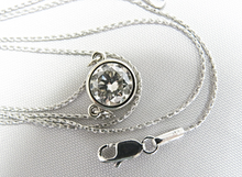 Load image into Gallery viewer, 1.50 Carat Round Diamond Solitaire White Gold Pendant Necklace