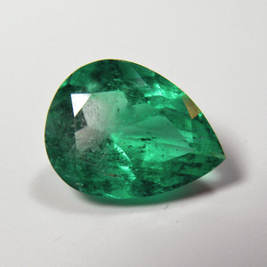 Loose 3.73ct Fine Natural Pear Colombian Emerald AAA Quality 12.86x9.81mm