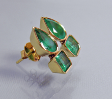 Load image into Gallery viewer, 4.60ct Magnificent Natural Emerald Earrings 18k Gold