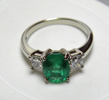 Load image into Gallery viewer, Estate 2.60cts Natural Colombian Emerald Diamond Engagement Ring 14K Gold