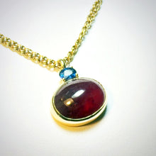 "Load image into Gallery viewer, 21.00 CT Red & Blue Sapphire ""Tutti Frutti"" Pendant 14K Yellow Gold"