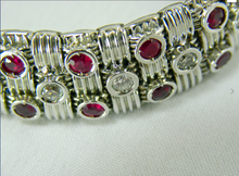 Load image into Gallery viewer, Roberto Coin Appassionata Ruby Diamond Bracelet 18K White Gold