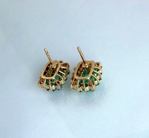 colombian emerald diamond earrings stus
