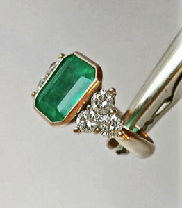 5.70ct Fine Natural Colombian Emerald Diamond Engagement Ring 18K Gold
