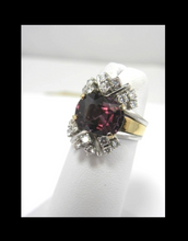 Load image into Gallery viewer, Antique Estate 6.18 Carats Orchid Spinel & Diamond Cocktail Ring 14K Gold
