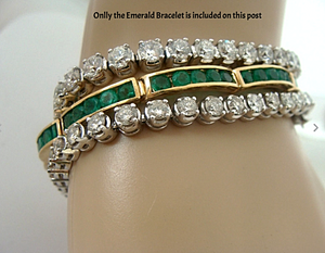 Natural Colombian Emeralds Bracelet 18K Gold