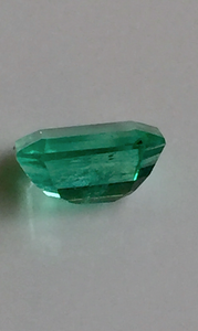 Loose 1.40ct Fine Green 100% Natural Colombian Emerald Emerald Cut