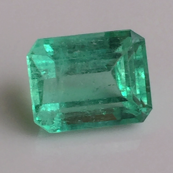 Loose 1.87ct Fine Green 100% Natural Colombian Emerald Emerald Cut