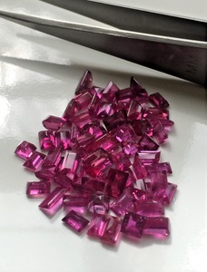 Loose 17.10ct Fine Natural Untreated Madagascar Ruby Emerald Cut Lot Parcel
