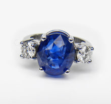 Load image into Gallery viewer, GIA Certified 11.0ct Cornflower Blue Sapphire Diamond Engagement Ring Untreated 18K White Gold