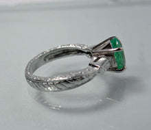 Load image into Gallery viewer, Estate 2.21cts Vintage Emerald Diamond Engagement Ring Platinum & 18K Gold