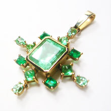 Load image into Gallery viewer, 7.40 Carat Cluster Natural Colombian Emerald Pendant