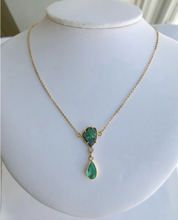 Load image into Gallery viewer, 5.10 Carat Emerald Boulder Opal Diamond Pendant Necklace 18 Karat