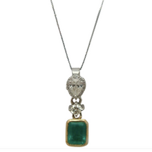 Load image into Gallery viewer, 4.00 Carat Colombian Emerald & Diamond Pendant 18K